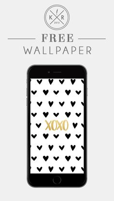 XOXO Heart And Gold Background / Wallpaper For Mobile On The Blog Www.life