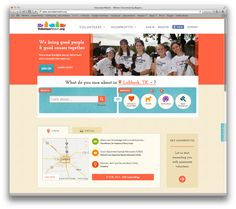 Volunteer Match - Friendly design, great organization for the amount of information.