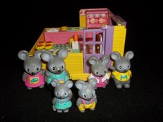 Furry Families Mouse Family by Takara Playmates in 1993.These toys are a rare line that are hard to find now.