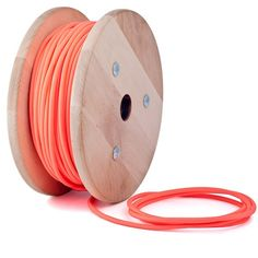 Pink neon textile cable by Cablelovers