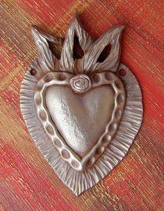 Copper Clay Heart by Lorena Angulo, via Flickr
