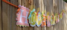 """Happy Birthday Banner- Springtime with """"1st"""" as the middle scallop. $38.00, via Etsy."""