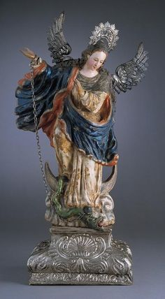 Virgin of Quito  Ecuador, circa 1750  Paint, wood, gold, silver Spanish Colonial Art | Denver Art Museum