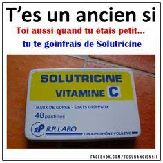 Solutions pour la gorge... Childhood Memories, Ads, Retro, Grands Parents, Phrases, Type 3, Facebook, School, Photos