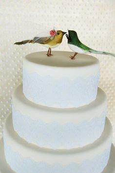 Love Birds Wedding Cake Topper Flapper Bride & by beckykazana, $30.00