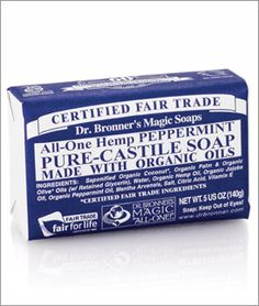 dr. bronner's peppermint soap - my favorite!