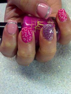 Pink Barbie glitter