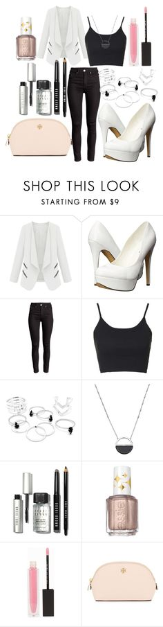 """""""Untitled #103"""" by the-fashion-fantasy ❤ liked on Polyvore featuring Michael Antonio, Topshop, White House Black Market, Bobbi Brown Cosmetics, Essie, MAKE UP STORE and Tory Burch"""