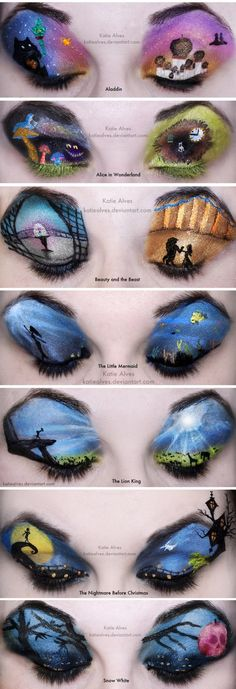 Katie Alves' brilliant Disney eye makeup.