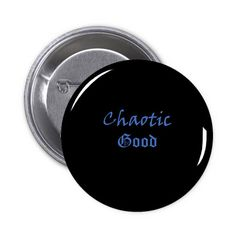 Chaotic Good Gamer Pin Back Button
