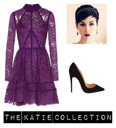 """Pretty in purple"" by maddy-adams on Polyvore featuring Elie Saab, Christian Louboutin, women's clothing, women's fashion, women, female, woman, misses and juniors"
