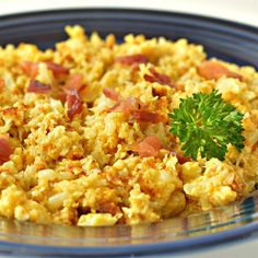 "Scrambled Cauliflower - Low Carb | ""A perfect breakfast dish for those watching their carbs. """