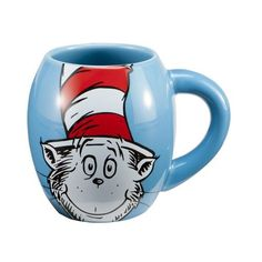 Vandor Doctor Seuss The Cat in the Hat 18-Ounce Oval Ceramic Mug, Blue by Vandor, LLC, http://www.amazon.com/dp/B007GPOVNY/ref=cm_sw_r_pi_dp_ytA.rb0KMC84D