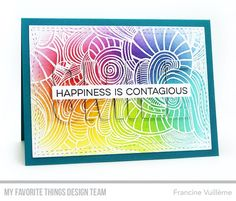 Wavy Coloring Book Background, All Smiles Stamp Set, Double the Smiles Die-namics, Wonky Stitched Rectangles STAX Die-namics - Francine Vuillème  #mftstamps