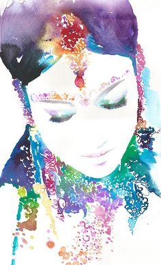 Impression de mariée indienne impression par silverridgestudio