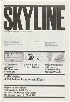 Massimo Vignelli, Lella Vignelli. Skyline, No. 1, April 1, 1978. 1978