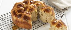 Pull Apart Maple Glazed Hot Cross Buns recipe from Food in a Minute