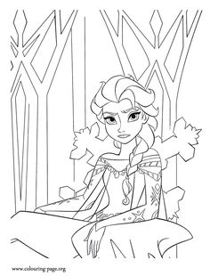 Coloring Page With ELSA From The 2013 Movie By DISNEY PIXAR Called