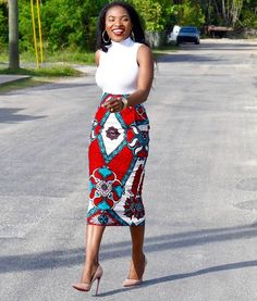 Latest beautiful collection the best plain and patterned ankara collections there are in the African print ankara fashion world African Print Skirt, African Print Dresses, African Wear, African Attire, African Fashion Dresses, African Dress, Ankara Fashion, Ghanaian Fashion, African Clothes