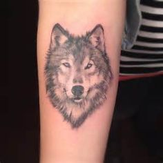 simple wolf tattoos - Google Search