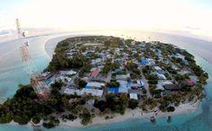 Aerial view of Thulusdhoo island, Maldives  #dronefly #island #ocean #beach #tropics #exploremore