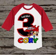Little Einsteins Birthday Shirt Little by BellaFashionDesignz