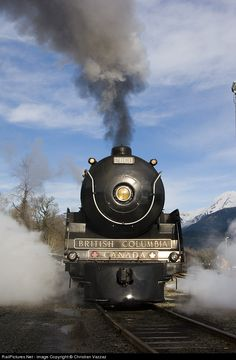 RailPictures.Net Photo: CP 2860 Canadian Pacific Railway Steam 4-6-4 at Squamish, British Columbia, Canada by Christian Vazzaz