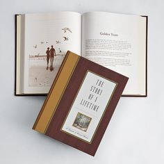 The Story of a Lifetime.... what I would not have given to have had my Mom do this for us. A Bound book with over 500 questions about who and how they came to be.