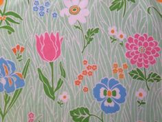 Rare-Vtg-Lady-Pepperell-TWIN-FITTED-Sheet-Pretty-Flower-Power-Floral-Mod-60s70s