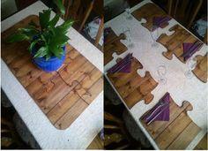 Puzzle pieces placemats...