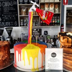 Cakes at the talented Baykers in Brighton. Brighton Melbourne, Gourmet Cakes, Cinnamon Spice, Train Station, Vanilla, Spices, Birthday Cake, Canning, Street