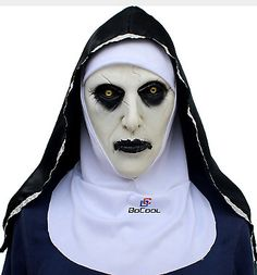 a7087eea929 Roolina The Nun Valak Mask Deluxe Latex Scary Full Head Halloween  fashion   clothing  . Scary Halloween CostumesHalloween ...