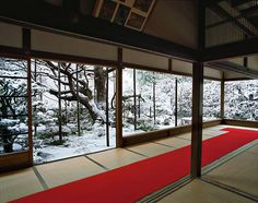 Hōsen-in (2011) - The absence of windows frames the gardens as a natural extension of the meditation space. The effect is an immersive indoor-outdoor experience.