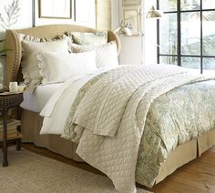 Silk Cotton Channel Two Tone Sham King Gray Mist At