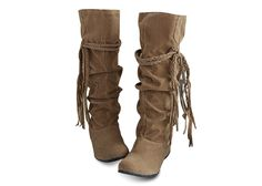 Concise Tassels and Pure Color Design Women's Boots, LIGHT YELLOW, 38 in Boots | DressLily.com