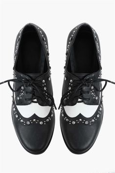 Michelle Oxford Shoe in Black.