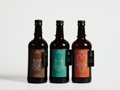 Revertis Beer Packaging Design by Meng-Yao Liu, via Behance