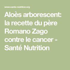 Aloès arborescent: la recette du père Romano Zago contre le cancer - Santé Nutrition