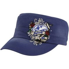 Top of the World Kansas Jayhawks Ladies Royal Blue Eve Adjustable Military-Style Hat