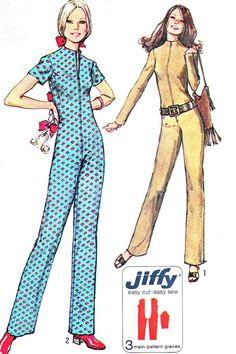 1970s Womens Jumpsuit Pattern Simplicity 9142 Jiffy by paneenjerez, $10.00