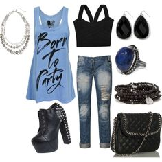 Born to Party, created by juarezcourtney on Polyvore