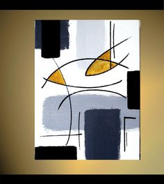 Original Abstract Geometric Painting Modern by LenDickson on Etsy