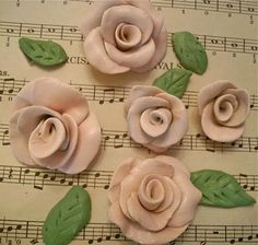 Polymer Clay Roses