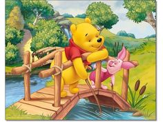 Pooh and Piglet Winnie The Pooh Pictures, Cute Winnie The Pooh, Winnie The Pooh Quotes, Cute Cartoon Drawings, Disney Drawings, Eeyore, Tigger, Disney Princess Jasmine, Disney Coloring Pages