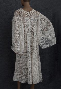 Edwardian Clothing at Vintage Textile: #2737 irish lace coat