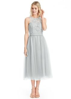 AZAZIE EVA. Eva is such a delight with its lace illusion neckline and gorgeous keyhole back design. #Bridesmaid #Wedding #CustomDresses #AZAZIE
