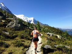 Lucy Bartholomew Taking the train up the mountain and then running along and down! It saves the energy for the fun stuff! #Chamonix #TrailRunning #UltraTrail