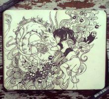 #63 Spirited Away by Picolo-kun Sketchbook Inspiration, Art Sketchbook, Studio Ghibli, Diana Diaz, Gabriel Picolo, Spirited Away, Marker Art, Illustrations, Anime