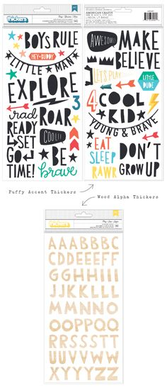 FONTS - CRATE PAPER - Cool-kid_thickers