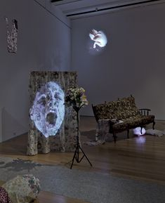 Tony Oursler - Judy (Lisbon Version), 1994 Projection Installation, Projection Mapping, Tony Oursler, Modern Art, Contemporary Art, New Media Art, A Level Art, Art Abstrait, Conceptual Art